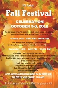 SCL Fall Festival Celebration October 5-6 TONIGHT AND TOMORROW