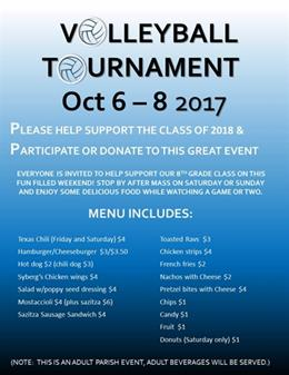 Adult Volleyball Tournament - THIS WEEKEND