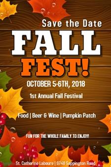 Fall Fest - Save the Date