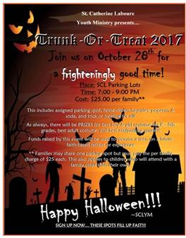 TRUNK OR TREAT SIGN UPS