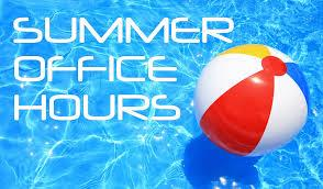 Summer Hours for SCL Parish Office
