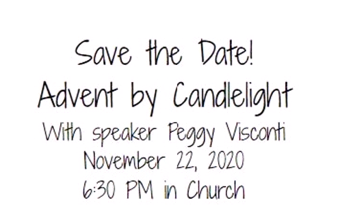 SAVE THE DATE - ADVENT BY CANDLELIGHT